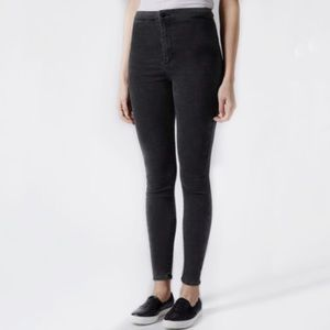 TOPSHOP Moto Joni Shinny Jeans in Washed Black!